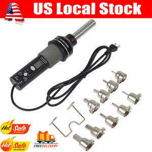450w 220v Lcd Display Electronic Hot Air Heat Gun Soldering Station 9x Nozzles