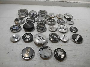 Lot Of 25 Small Aftermarket Wheel Center Caps Used