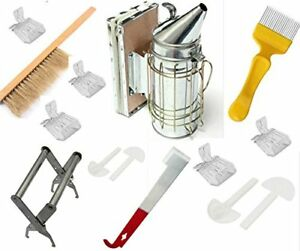 Beekeeping Tools Kit 10 Pcs bee Hive Smoker Beekeeping Accessory bee Kee