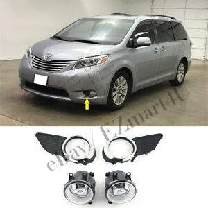 Fit 2011 2016 2017 Toyota Sienna Chrome Fog Lamp Lights Left Right