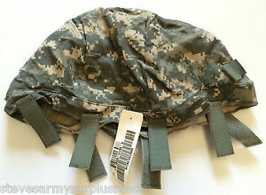 ~NWT! US MILITARY ACH HELMET COVER W NVG FLAP + IR TABS ACU LGXL MADE IN USA!