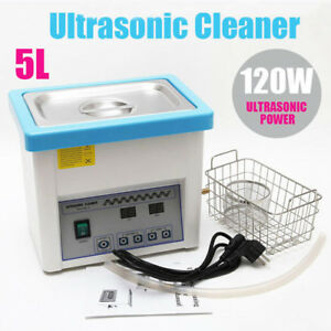Ultrasonic Cleaner Solution Bath Wash Parts Tools Cutter Jewelry Dental W Heater