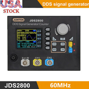Jds2800 60mhz Digital 2 channel Arbitrary Waveform Dds Function Signal Generator
