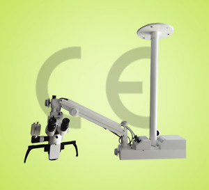 3 Step Ceiling Mount Surgical Dental Microscope For Dental Surgery White