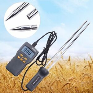 Md7822 Digital Grain Rice Corn Wheat Moisture Temperature Gauge Meter Tester f
