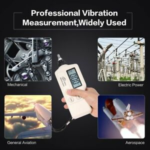 Lcd Digital Vibration Meter Analyzer Tester Acceleration velocity displacement S
