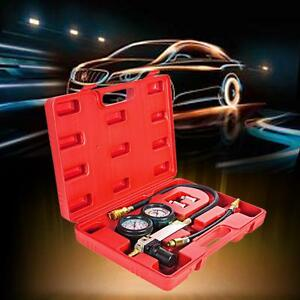 Cylinder Leak Leakage Tester Leak Down Detector Engine Compression Gauges Case