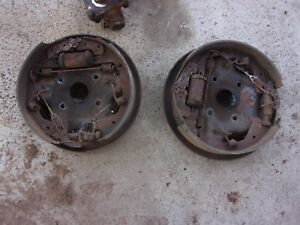 68 74 Econoline E300 E200 12 Inch Front Brake Drum Backing Plates Oem Pair