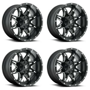 Set 4 15 Fuel Lethal D567 Matte Black Milled Rims 15x10 6 Lug 6x5 5 Truck 43mm