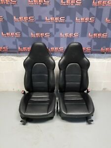 2001 Porsche Boxster S 986 Oem Sport Seats Black Leather 996 911 W Crest