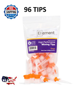 96 pk Hp Orange 10 1 Crown Bridge Mixing Tips Dental Core Temporary Material