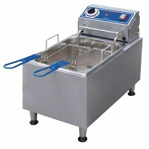 Globe Food Pf10e Countertop 120v Electric 10 lb Oil Capacity Fryer