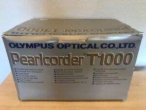 Olympus Pearlcorder T1000 Transcriber Micro Cassette Recorder Foot Pedal New