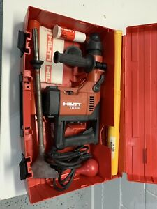 Hilti Te 55 Rotary Hammer Drill Sds W 6 Bits Used Twice Mint With Many Extras
