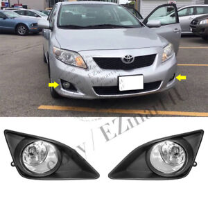 Fit 2008 2009 2010 Toyota Corolla Clear Fog Lamp Front Fog Light Pair