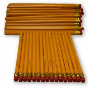 School Supplies Yellow 2 Pencils With Erasers Wholesale Bulk Lot Pack Count 576