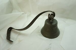 Antique Cow Bell 1878 Saignelecier 6 Inch Farm Goat Swiss Old Original Crack D