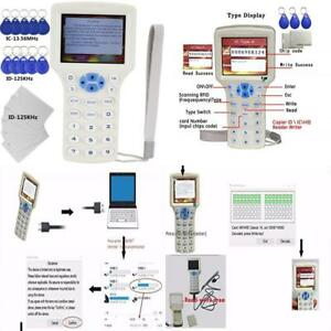 English 10 Frequency Rfid Nfc Card Copier Reader Writer For Ic Id Cards And All