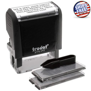 Self inking Ink Pad Custom Lettering Message Business Name Address Stamp Machine