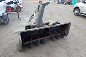Quick Attach 73 Snow Blower For Skid Steer Loaders 2 Stage Hydraulic Chute