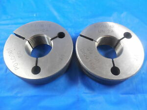 1 1 16 12 Un 2a Thread Ring Gages 1 0625 Go No Go Pd s 1 0067