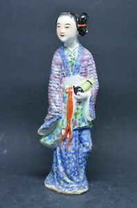 Antique Chinese Export Immortal Figurine 7 5 Inches Tall