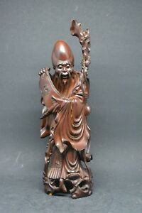 Antique Chinese High Quality Carving Sau Xing Figurine 9 Inches Tall