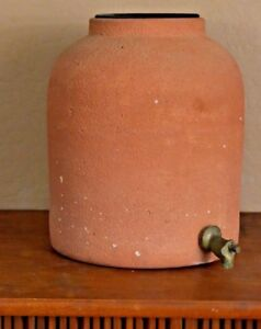 Ceramic Pottery Crock Water Filter Dispenser Cooler Countertop Clay Terracotta