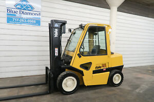 Yale Gdp080 8 000 Pneumatic Tire Forklift Diesel 3 Stage Sideshift Cab