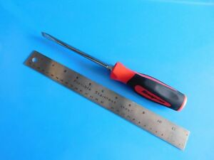 New Snap On Tools 6 Inch Flat Blade Soft Red Handle Screwdriver Part Sgd6b