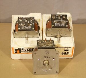 Staco 501 Variable Transformer Lot Of 3 r25a