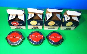 3 1960 s Nos Ac Delco Red Top Release Pressure 15 Pound Radiator Caps Chevy