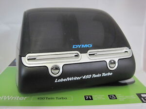 Dymo Labelwriter 450 Twin Turbo Label Thermal Printer With 4 Rolls Of Labels