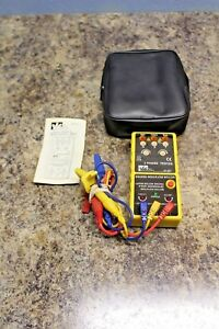 Ideal 61 521 3 Phase Tester Motor Rotation Tester W Leads Case Cat Iii