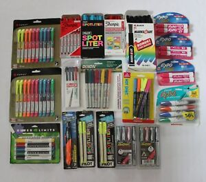 Lot Of 104 Sharpie Highlighter Permanent Marker Dry Wet Erase Pens School Office