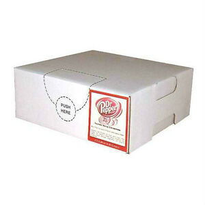 Dr Pepper Syrup Concentrate Soda Pop Bag N Box Gallon makes 6 Gallons