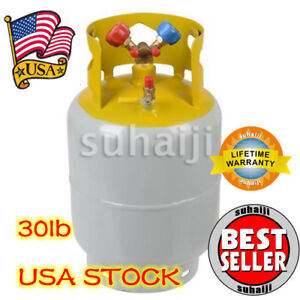 Refrigerant Recovery Reclaim 30lb Cylinder Tank 400 Psi R410a Rated Usa
