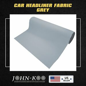 Auto Boat Marine Headliner Fabric Material Upholstery Foam Backed Grey 200 x60