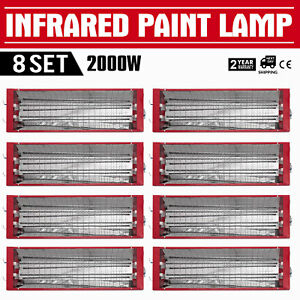 Set 8x2000w Infrared Ir Paint Curing Heating Lights Body Shop Booth Look