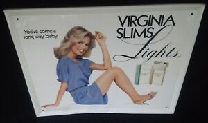 Virginia Slims Advertising Sign She Shed Man Cave Pretty Girl Ca 1980s