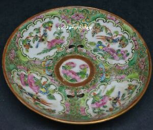 Antique Chinese Export Rose Medallion Bowl 4 5 Inches Wide