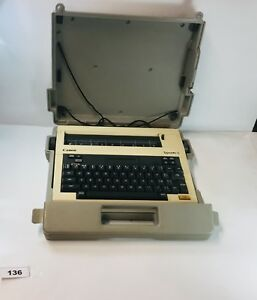 Vintage Collectable Portable Canon Typestar 5 Typewriter Beige Works 136