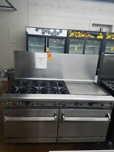 Imperial Six Burner Stove With 2 Convection Ovens 24 Griddle