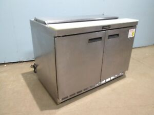 delfield Hd Commercial nsf 48 w 2 Doors Ss Refrigerated Sandwich Prep Table