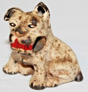 Antique Hubley Cast Iron Dog Paper Weight Pencil Holder
