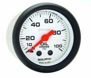 Auto Meter 5721 Phantom Mechanical Oil Pressure Gauge 2 1 16 0 100 Psi