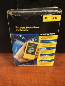 New Fluke 9040 3 phase Rotation Indicator Original Box Free Shipping