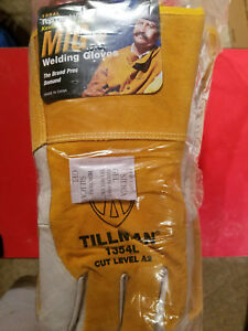 New Dozen Tillman 1354l Top Grain Kevlar Sock Lined Mig Welding Gloves