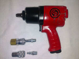 Chicago Pnuematic 1 2 Air Impact Wrench Cp7736 Gun 670 Ft Lbs W Couplings