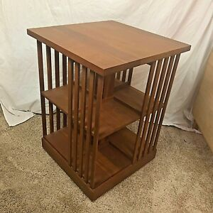 Stickley Mission Cherry Revolving Rotating Bookcase 30 1998